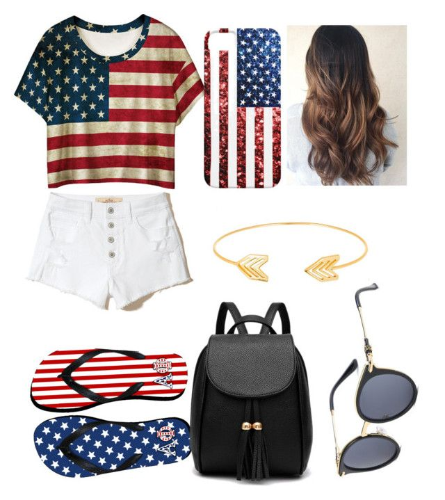 """4th🇺🇸🇺🇸"" by kenzie-kp on Polyvore featuring WithChic, Hollister Co. and Lord & Taylor"