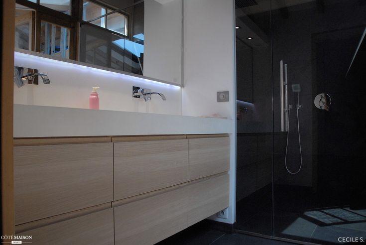 199 best salle de bain images on Pinterest Bathroom ideas, Room - Pose Brique De Verre Salle De Bain