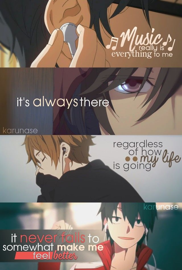 """"""" Music really is everything to me. it's always there regardless of how my life is going. it never fails to somewhat make me feel better.."""" 