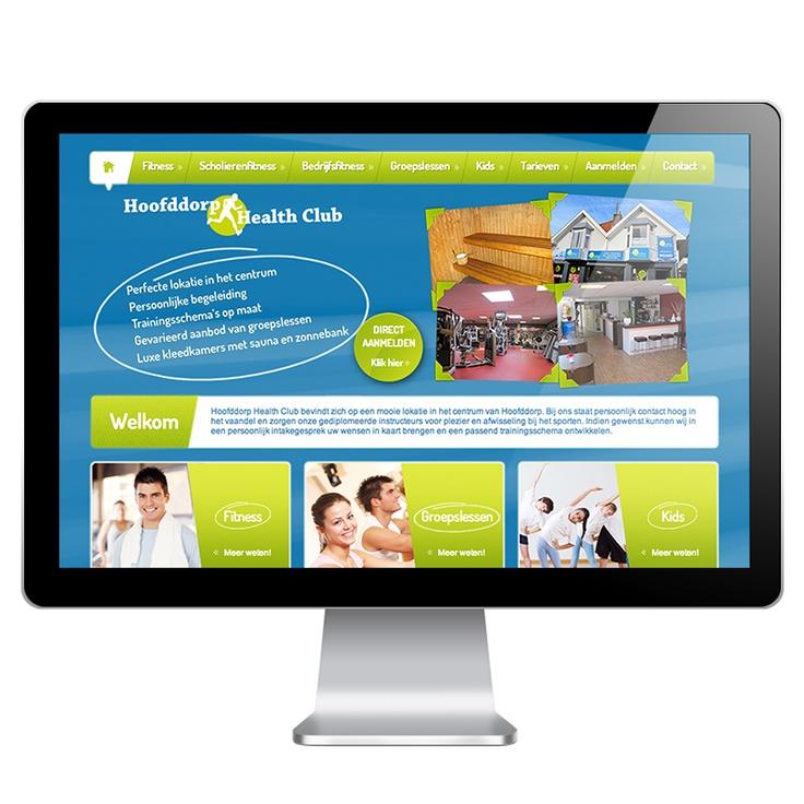 """Hoofddorp Health Club is een sportschool in Hoofddorp. We hebben voor HHC een heldere en informatieve website ontwikkeld volledig in de stijl van de huisstijl. Daarbij is er social media geïntegreerd in de website, dit leidt tot meer """"Likers"""" op facebook en daarmee een groter bereik."""