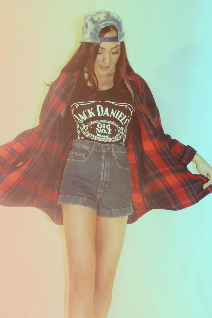Jack Daniels tank top. Cute summer style