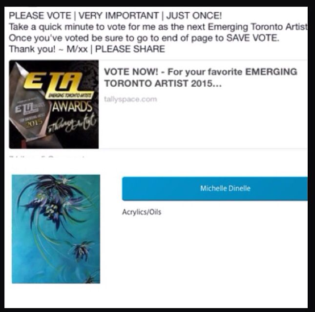 Really would appreciate you VOTE!!! go to https://www.tallyspace.com/vote/ETAAWARDS