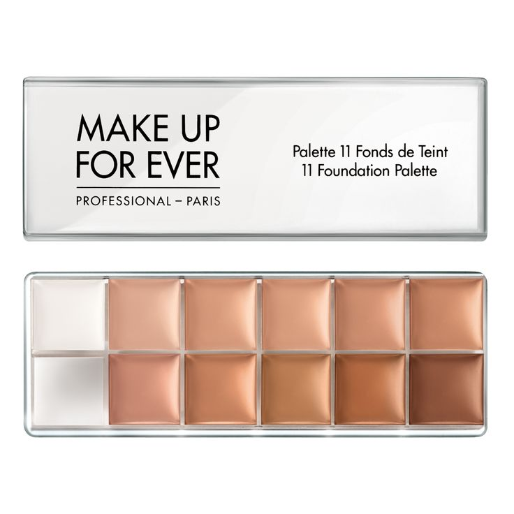 Make Up For Ever 11 Foundation Palette #47000. This looks so cool! I'd love to have something like this so I can match my skin tone.