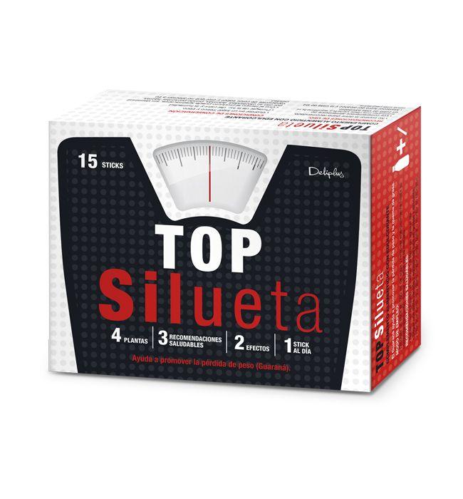 TOP SILUETA. Complemento alimenticio a base de Guaraná, Mate, Cola de Caballo y Ortosifón. El Guaraná ayuda a promover la pérdida de peso y la quema de grasa.