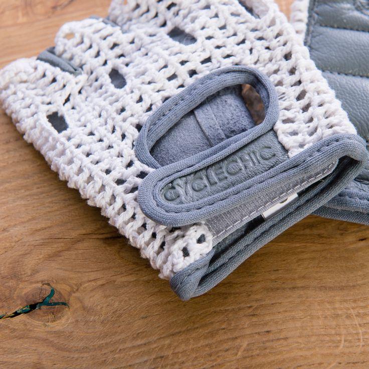 Crochet Cycling Gloves - Grey    Cyclechic