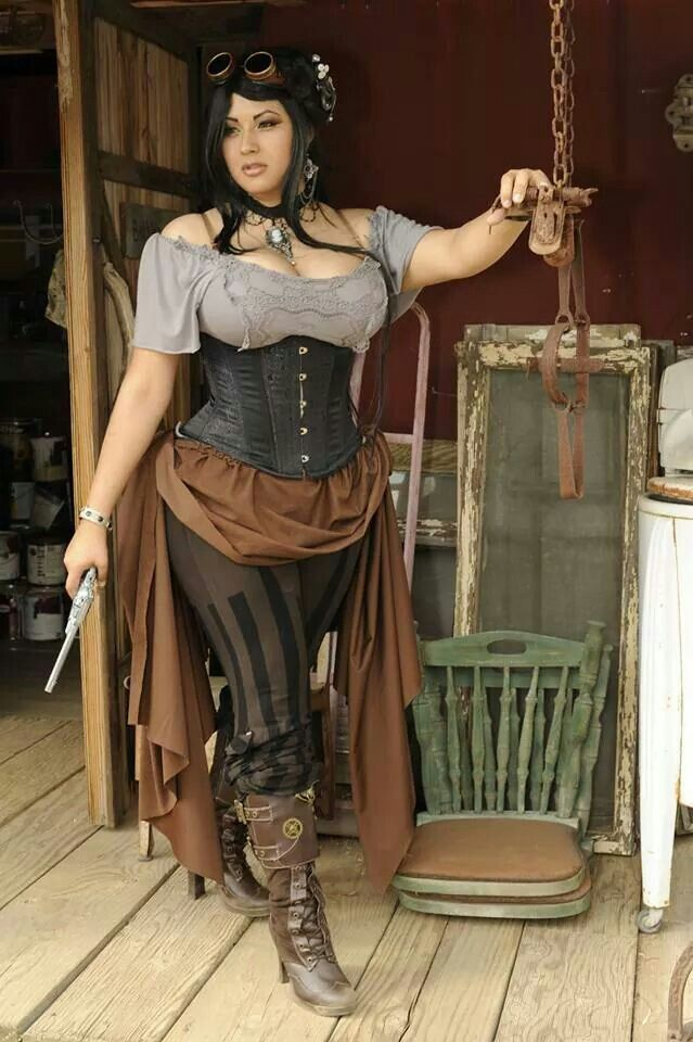 Cosplay steam punk for plus size girls