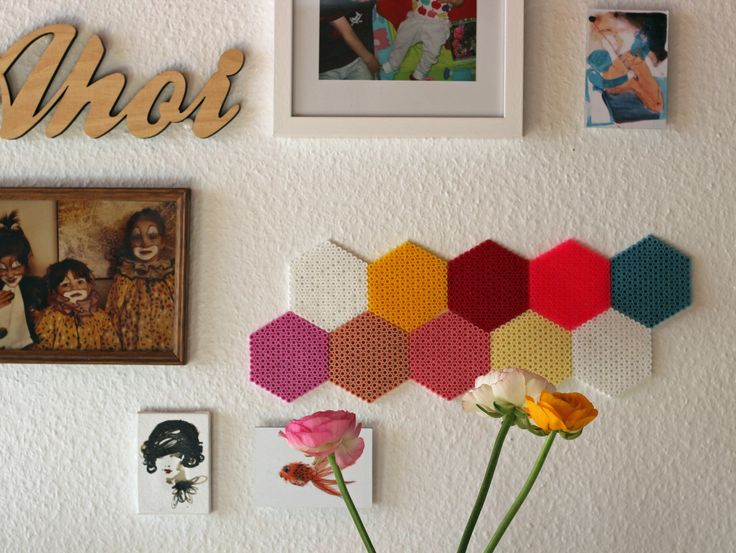 DIY: bunte Wanddeko aus Bügelperlen von Julsetmoi