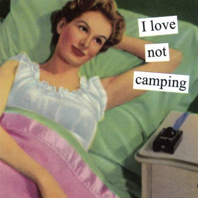 Not camping