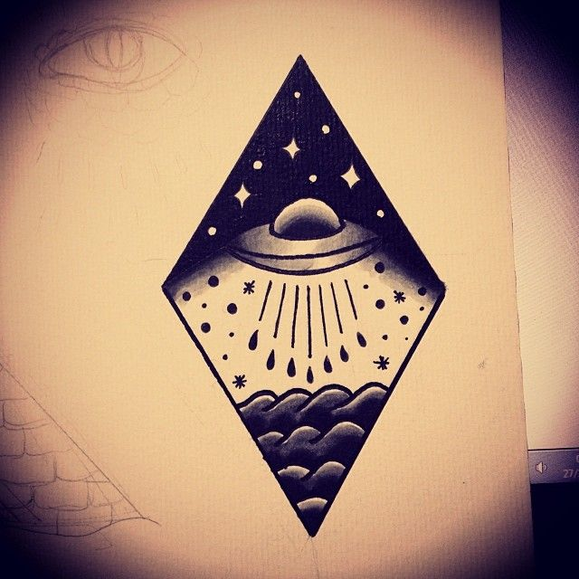 I want a ufo themed tattoo so much...
