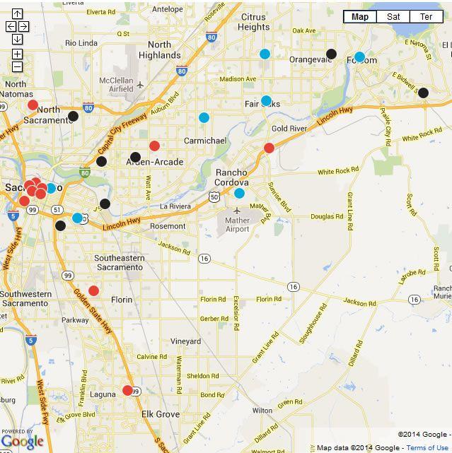 Interactive map: Sacramento-area farmers markets from the Sacramento Bee.