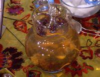 Padma Laksmi's Fairy Water: dried rose petals, lemon, star anise, dried jasmine