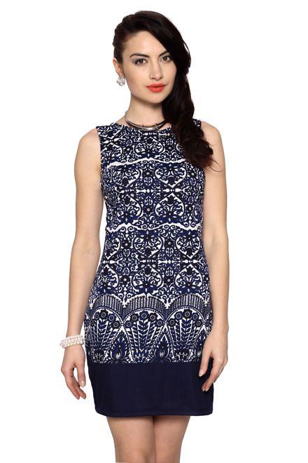 Van Heusen Casual Printed Thigh Length Dress