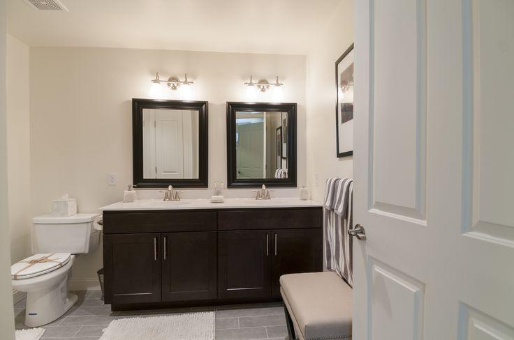 Double vanity in master bathroom in the Estates  Yourmetropolitan.com/estates
