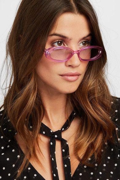 7a1f6f9da Le Specs | Outta Love oval-frame acetate sunglasses | NET-A-PORTER.COM