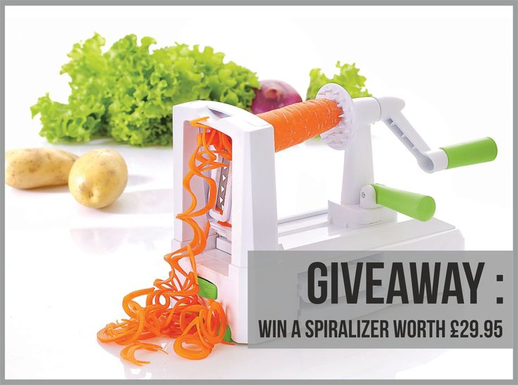 Win a spiralizer worth £29.95 from www.fatgirlskinny.net