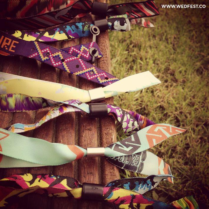 Festival Wedding Wristbands   WED FEST