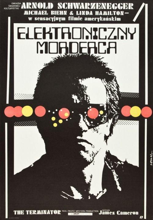 The Terminator (Orion, 1987). Polish movie poster by Jakub Erol.