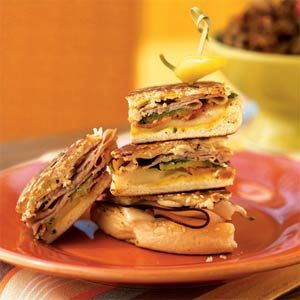 Cooking light pressed Cubano with bacon. A family favorite, make it at least once a month.