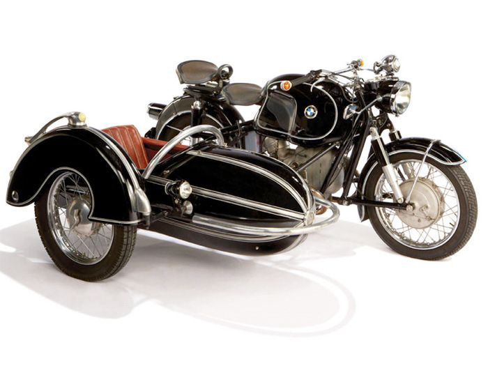 1958 BMW Motorcycle with Steib Sidecar