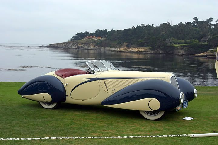 1937 Delahaye 135 Figoni et Falaschi Torpedo Cabriolet