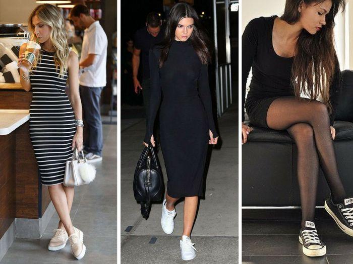 moda | roupas da moda | vestidos | vestido com tenis | como usar vestido e tenis…