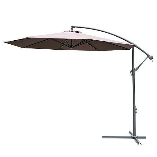 Tesco direct: Outsunny 3m Garden Parasol Banana Umbrella Cantilever (Coffee)