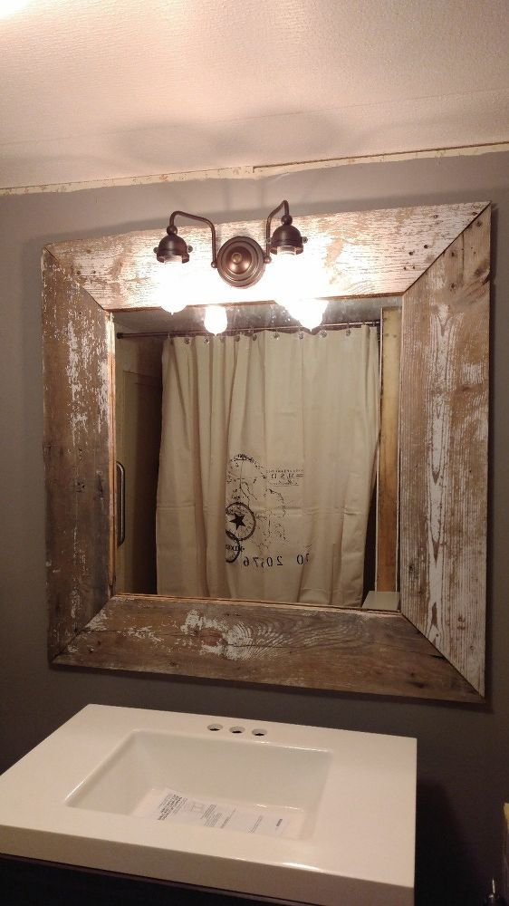 My Rustic Barn Wood Mirror - good ideas about sealing old barnwood in directions
