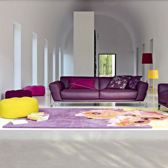 Perfect Idea For A Loft Or An Open Living Room. The Bright Couch Separates  The