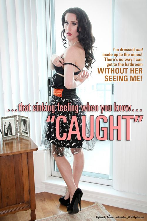 Caught Crossdressing And How It Feels With A Dildo