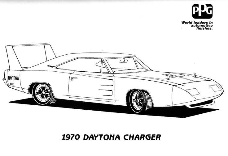 Challenger Car Coloring Pages : Hellcat challenger car coloring pages