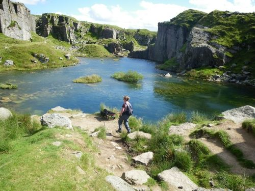 A sunken quarry near Hay tor. Dartmoor National Park | Devon | England