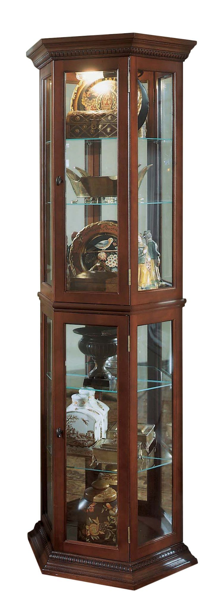 Features:  -Great place to display collectibles and memorabilia.  -NOTE: Bulbs…