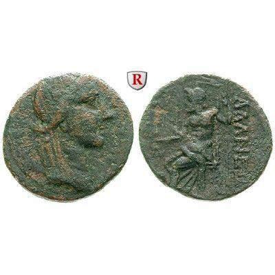 Kilikien, Adana, Bronze 164-30 v. Chr., f.ss/ss: Bronze 23 mm 164-30 v. Chr. Kopf des Apollo r. mit Lorbeerkranz / Thronender Zeus… #coins