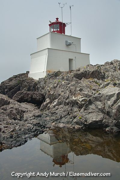 Amphitrite Lighthouse, Vancouver Island, Canada.