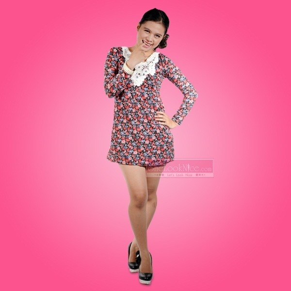 Mini Dress Flower Diamond Rp 79.000  Hub : TokoKawan.com / 0898 237 56 19