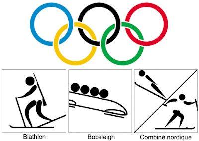 Symboles et pictogrammes: les sports olympiques d'hiver
