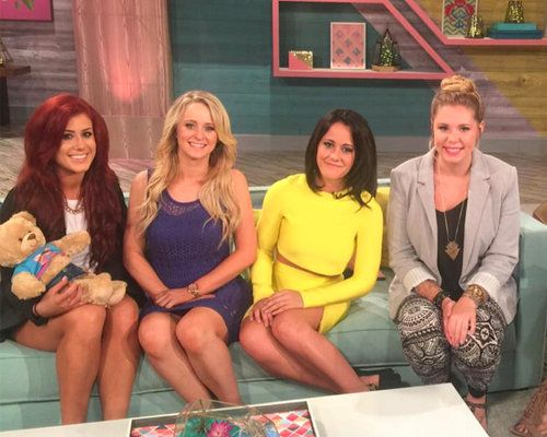 Teen Mom 2 stars Chelsea Houska, Leah Messer, Jenelle Evans, and Kail Lowry film Teen Mom 2 reunion. Jeremy Calvert and Corey Simms toast to #LifeAfterLeah.
