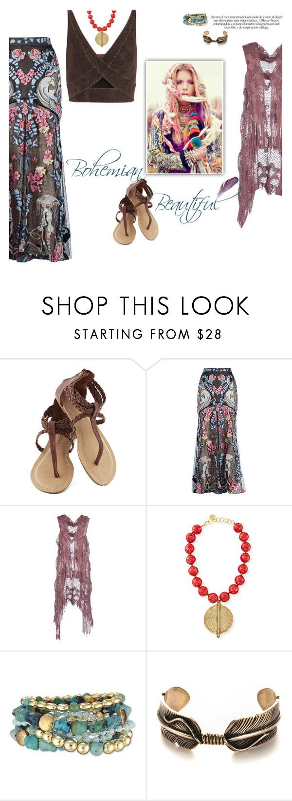 """Boho"" by sassiesavy ❤ liked on Polyvore featuring Temperley London, Sarah Jackson, NEST Jewelry and Tamara Mellon"