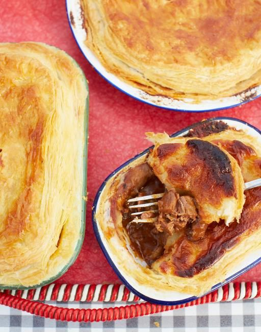 Gary Barlow's favourite food is the humble British pie and who can blame him – pies are both down-to-earth and luxurious, as well as super delicious, so I decided to cook him my version of the meaty classic, steak