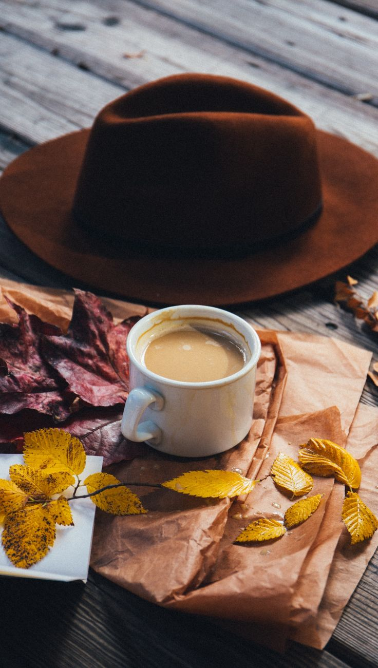 Fall mood ❤️ autumn aesthetic, coffee, hat, fall leaves, October, November, #afflink