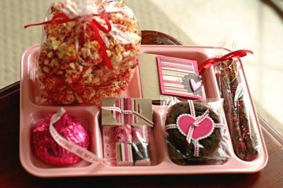 lunch traysTrays, Treats, Ideas, Gift, Pink Schools, Schools Lunches, Pottery Barn Kids, Fun, Valentine