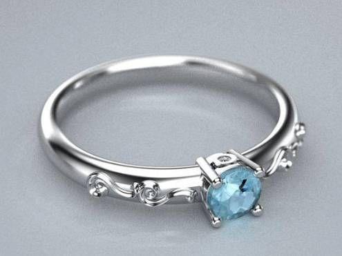 Image result for aquamarine ring