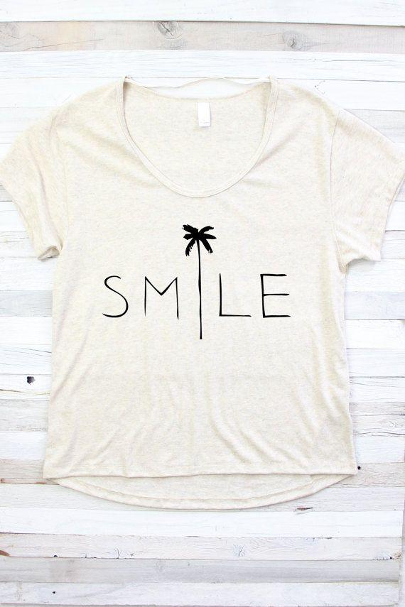 SMILE SHIRT Beach Shirt Summer Shirt Shirt for by PowderAndSea More