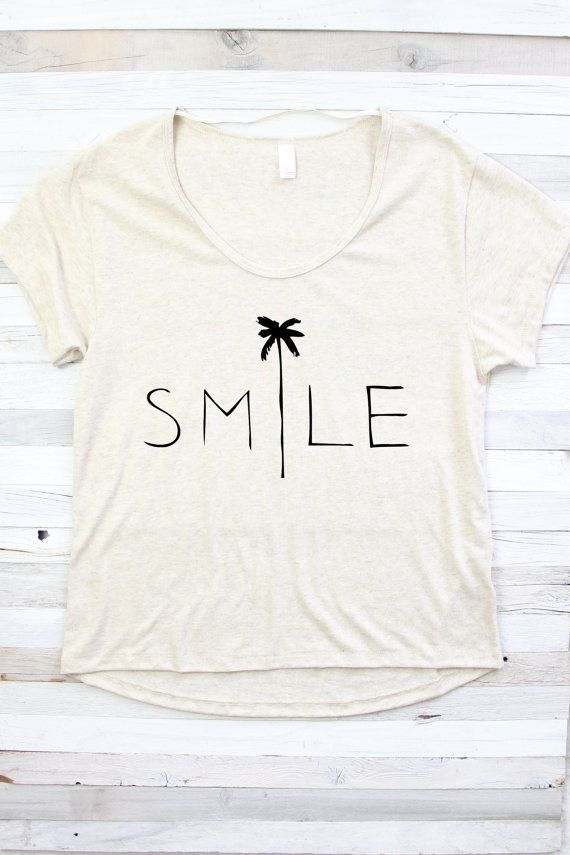 SMILE SHIRT Beach Shirt Summer Shirt Shirt for by PowderAndSea