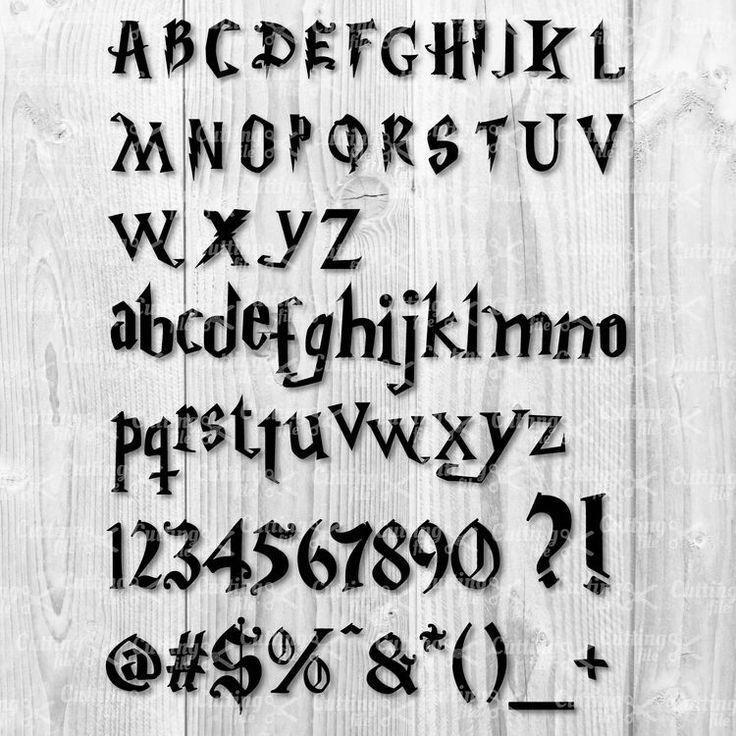 Download Harry Font Free SVG for Cricut Potter Alphabet # ...