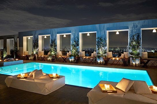 SkybarIn a city where people and places are generally granted 15 minutes of fame, Skybar is the nightlife equivalent of George Clooney's steadfast career. Nested above the pool at the Mondrian Hotel, Skybar offers frequent DJ sets, classic cocktails, the occasional celeb sighting, and bites that don't disappoint. Mondrian Los Angeles, 8440 Sunset Boulevard (near North La Cienega Boulevard); 323-848-6025. #refinery29 http://www.refinery29.com/la-summer-rooftop-bars#slide-10