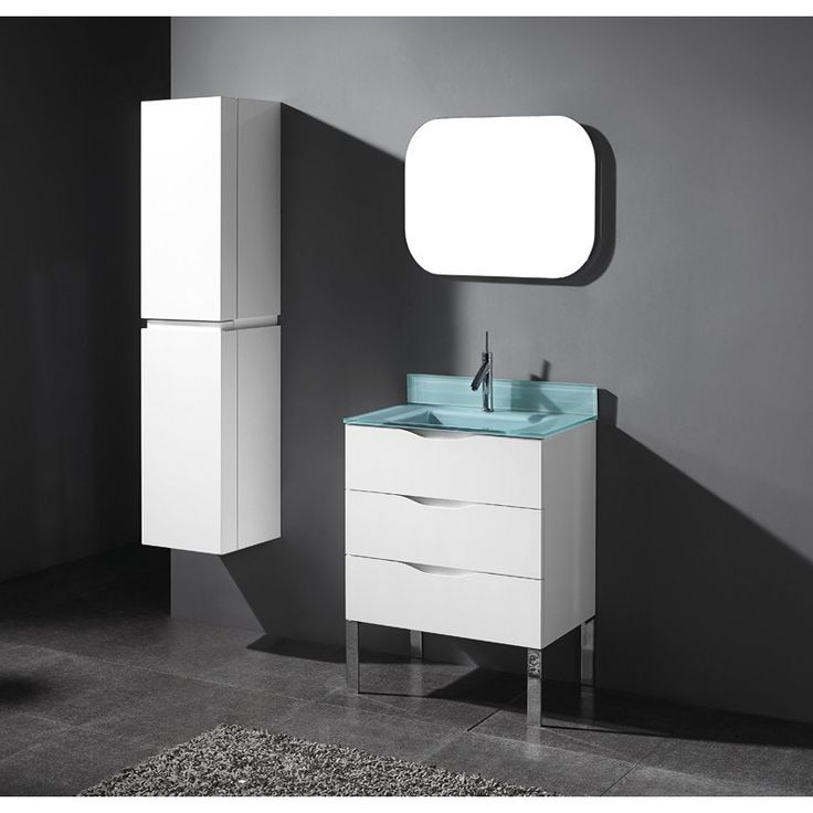 milano glossy white 30u201d modern single sink bathroom vanity by madeli model milano