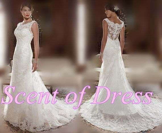Princess wedding dress  lace wedding gown / beach by ScentofDress