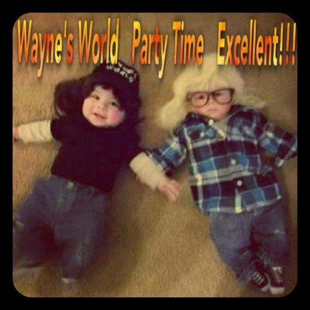 waynes world costume for twin babies sooo cute waynes world costumebest halloween - World Best Halloween Costumes
