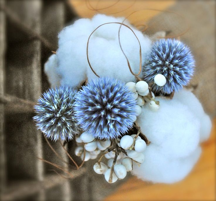 Cotton Centerpiece Bouquets - Raw Cotton -  Natural Cotton - Wedding - Rehearsal Dinner - Bridal Shower - Anniversary - Home Decor. $30.00, via Etsy.